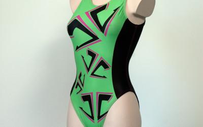 Waterpolo-badpak-groen-front-left